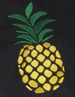 Stickbild Ananas 13x18 - Set